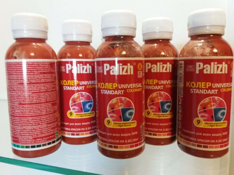 "Колер ""PalIzh"" # 9 - СВЕТЛО КОРИЧНЕВЫЙ 140мл"