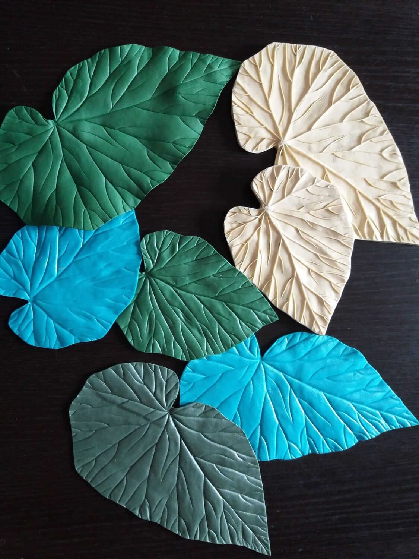 НОВИНКА КОМПЛЕКТ листья БЕГОНИИ 30,5х15,5см и 20х14,5см