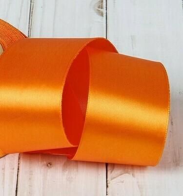 Лента атласная 2,5 см*25 ярдов оранжевая 025