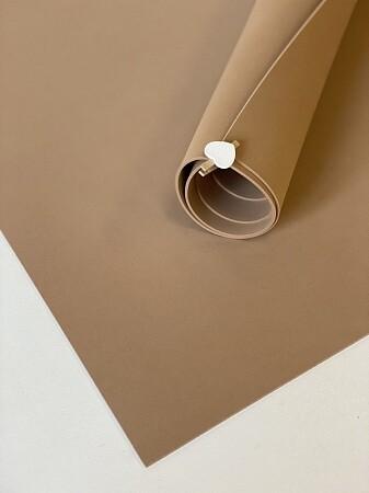 Фоамиран 2мм 60х70см  - Миндальный (светло коричневый)