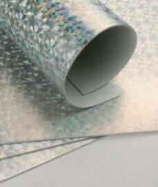 Фоамиран голограмма А4 10 шт. серебро 6303