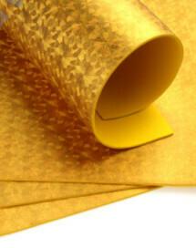 Фоамиран голограмма А4 10 шт. золото 6304