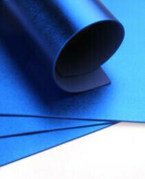 Фоамиран металлик Синий - А4 10 шт.