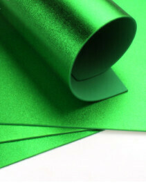 Фоамиран металлик Зеленый - А4 10 шт.