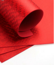 Фоамиран голограмма А4 10 шт. красный 6301
