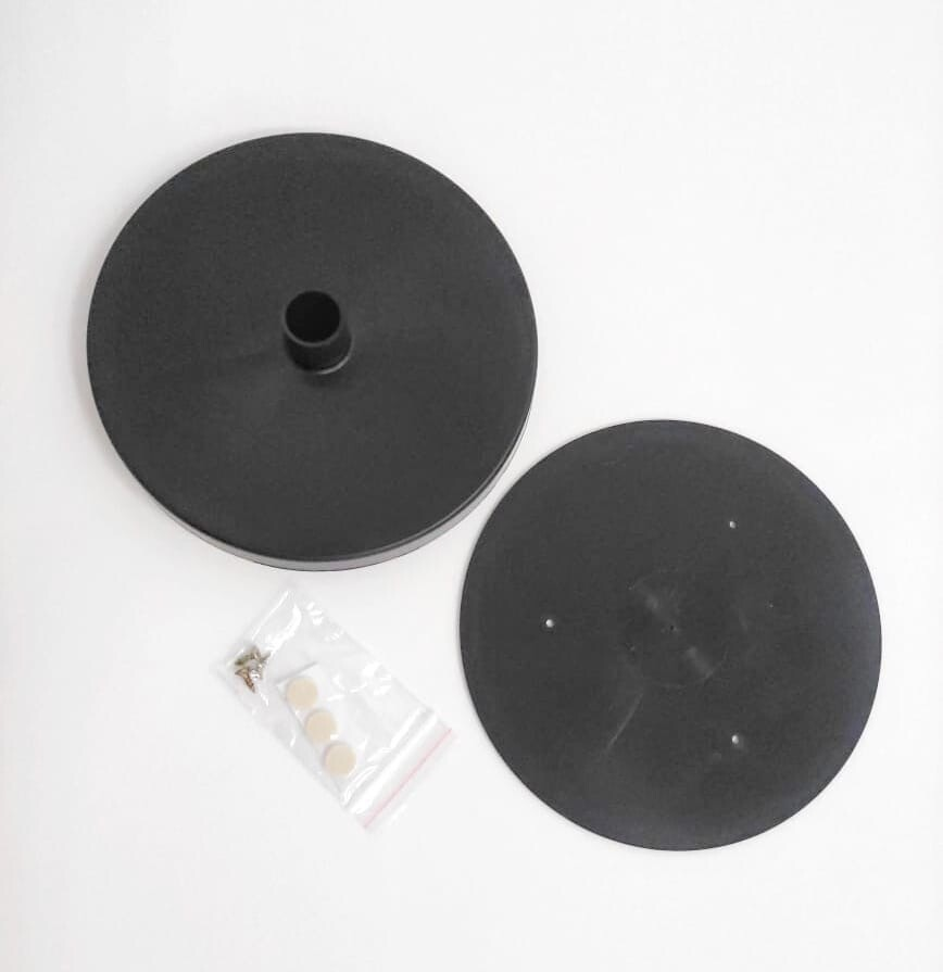 Подставка D=150 мм для изготовления настольного светильника под трубу D=16 мм (Черная)