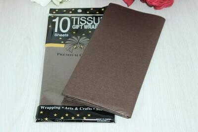 Бумага тишью 50*66 см 10 шт. коричневая 498