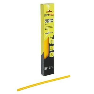 """Стержни клеевые """"ПрофКлей"""" 8782, универсальные, желтые, 7х200 мм, 10 шт."""