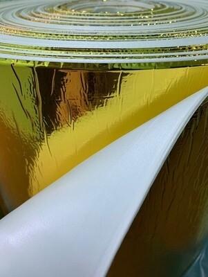 Металлизированный Золотой (белое основание) 2мм ширина 1м