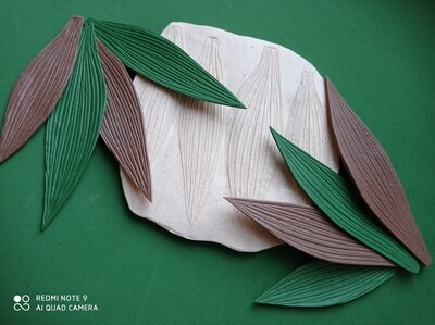 МОЛД Лист малый Лилии, Купены, Плантариума и др. размер молда 14.5х14.5см листочки 14х4 и 11х3см