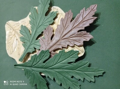 МОЛД Лист Хризантемы Ромашки натуральный размер 14.5х7.5см
