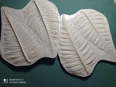 КОМПЛЕКТ Молды (2шт) Пуансетия Листья 15х8 и 15,5х8,5см и Лепестки 11х6,5 и 11х9см