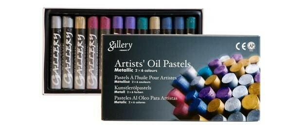 Масляная пастель Mungyo Gallery (металлик) - 12 расцветок