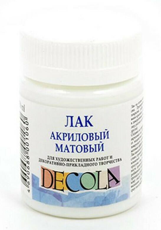 Лак акриловый Матовый Decola - 50 мл