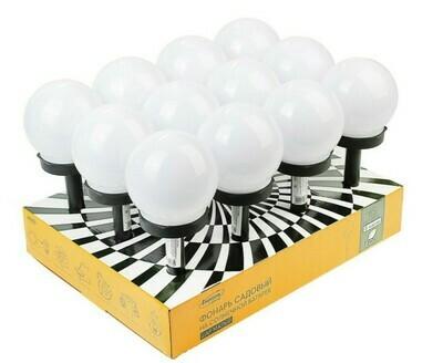 """Плафон светильник садовый на солнечной батарее плафон """"Шар малый""""  d-10 см, 1 led, пластик"""