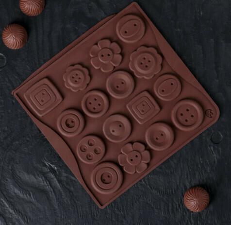 Форма для льда и шоколада Доляна «Пуговки», 29×17 см, 12 ячеек