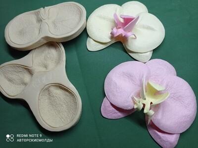 КОМПЛЕКТ Молды + Вайнеры Цветок Орхидеи исходный диаметр цветочка высота 12,5см ширина 13,5см (2 вайнера + 2 молда)
