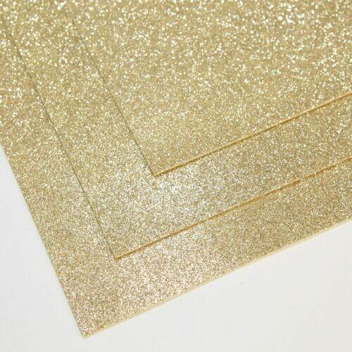Белое золото Фоамиран глиттерный, толщина 1.5мм, лист 60x70см