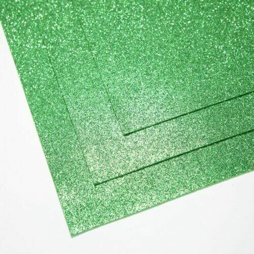 Светло-зеленый Фоамиран глиттерный, толщина 1.5мм, лист 60x70см