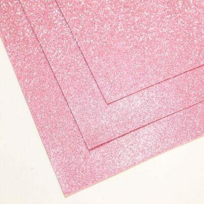 Светло-розовый Фоамиран глиттерный, толщина 1.5мм, лист 60x70см