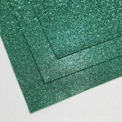 Нефрит Фоамиран глиттерный, толщина 1.5мм, лист 60x70см