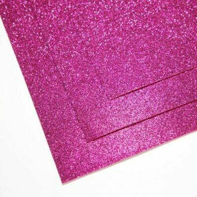 Фуксия Фоамиран глиттерный, толщина 1.5мм, лист 60x70см