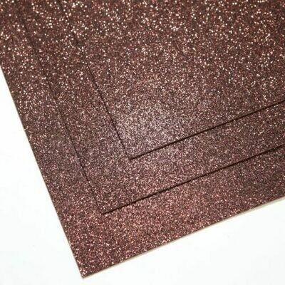 Шоколад Фоамиран глиттерный, толщина 1.5мм, лист 60x70см
