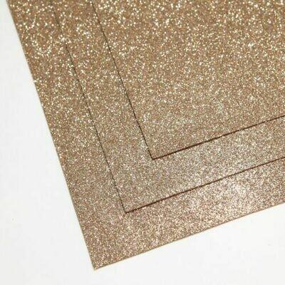 Песочное золото Фоамиран глиттерный, толщина 1.5мм, лист 60x70см