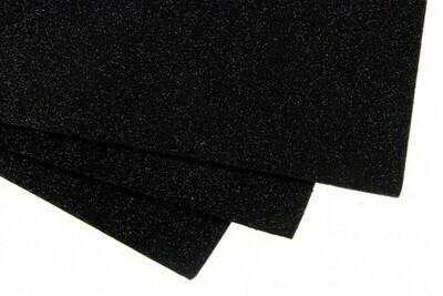 Черный Фоамиран глиттерный, толщина 1.5мм, лист 60x70см