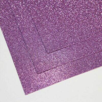 Светло-сиреневый Фоамиран глиттерный, толщина 1.5мм, лист 60x70см