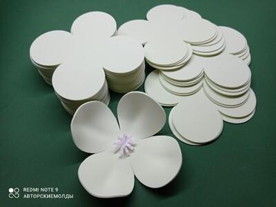 Фисташковое Мороженое Фоамиран, 2мм. Вырубка Четырехлистник, 13х13см (упаковка 15шт)