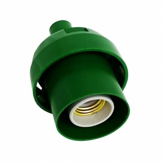 Основание с переходником на трубу 20мм под плафон - Зеленый цвет
