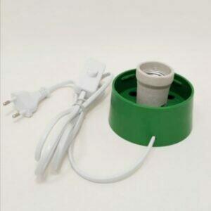 КОМПЛЕКТ Основание для плафона светильника с цоколем Е27 в комплекте с сетевым шнуром 1,7м ЗЕЛЕНОЕ