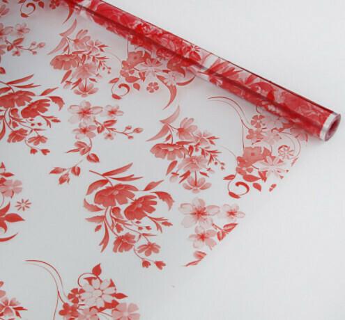 """Пленка для цветов """"Лондо"""", красный, 40 мкм, 0,72 х 7,5 м"""
