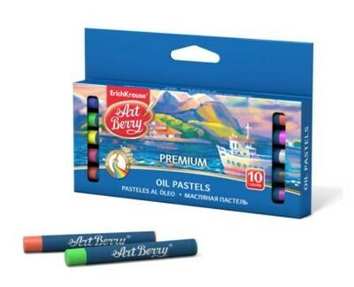 Пастель масляная, 10 цветов, Top-Level Creative Line, супер-яркие цвета, диаметр 9 мм