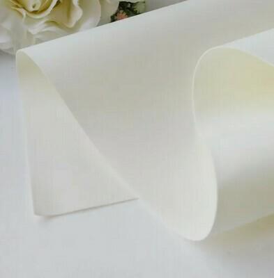 Фоамиран 1 сорт шелковый 1,2 мм, 60*70 см БЕЛЫЙ