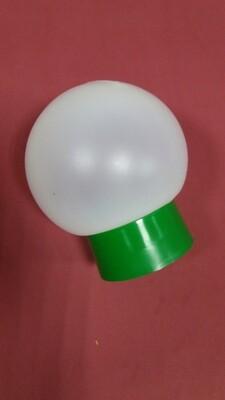 КОМПЛЕКТ Основание с Плафона цоколь Е27 - Зеленый цвет