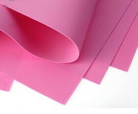 Фоамиран Eva 1 мм 50*50 см розовый 1509