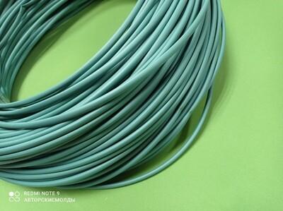 Термоусадка - Термотрубка в рулоне 6мм Зелёная (усадка до 3мм) отрезаем от метра
