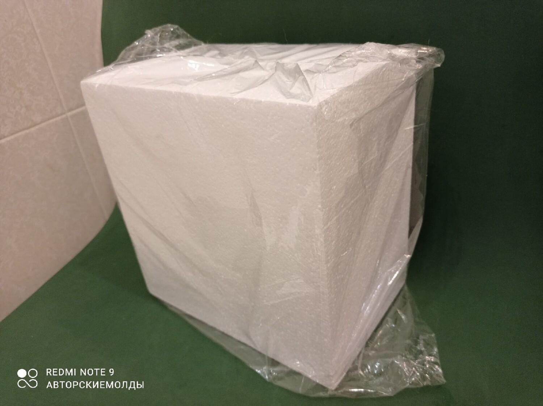 Флористическая основа из пенопласта КВАДРАТ, 23см × 23см