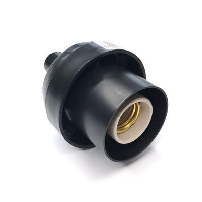 Основание с переходником на трубу 20мм под плафон -Черный цвет