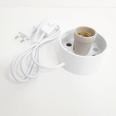 КОМПЛЕКТ Основание для плафона светильника с цоколем Е27 в комплекте с сетевым шнуром 1,7м БЕЛОЕ