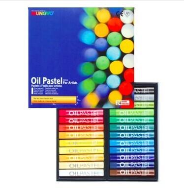 Пастель Mungyo Artists Oil Pastel масляная круглая 24 цвета (основные)