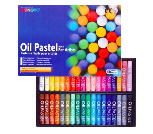 Пастель Mungyo Artists Oil Pastel масляная круглая 36 цветов в картонной упаковке