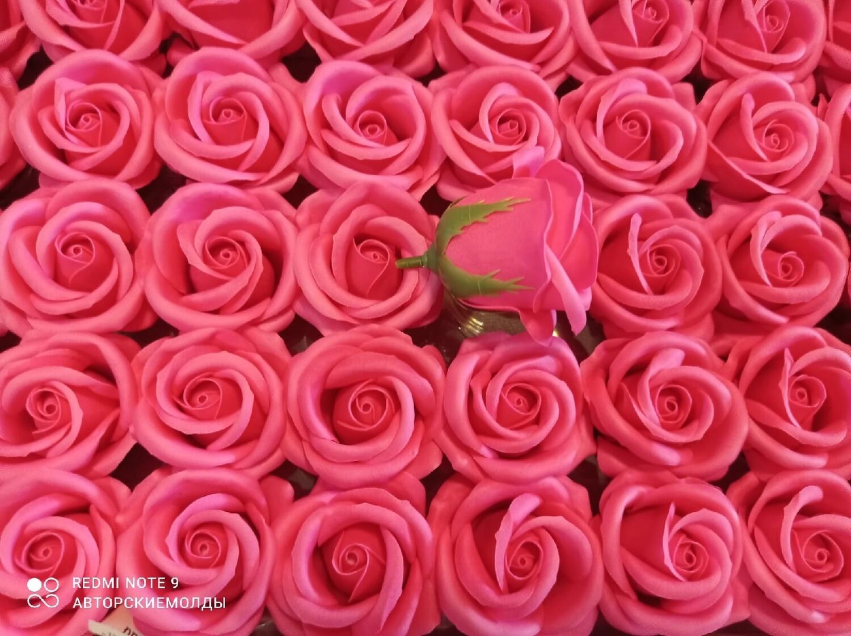 Роза из мыльной пены  5х5,5см РОЗОВАЯ