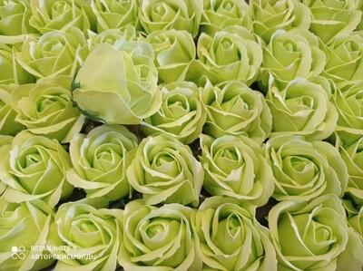 Роза из мыльной пены  5х5,5см САЛАТНАЯ