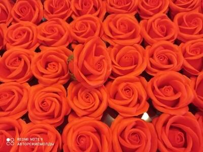 Роза из мыльной пены  5х5,5см ОРАНЬЖЕВАЯ