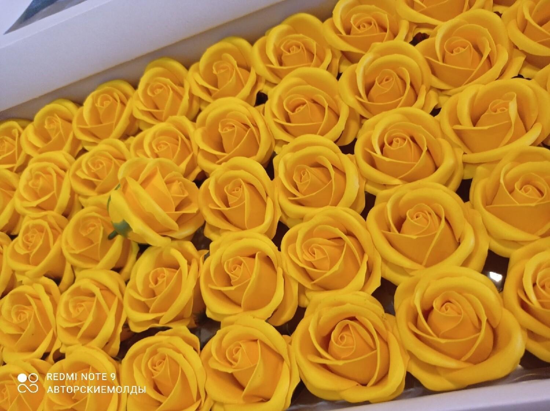 Роза из мыльной пены  5х5,5см ЖЕЛТАЯ