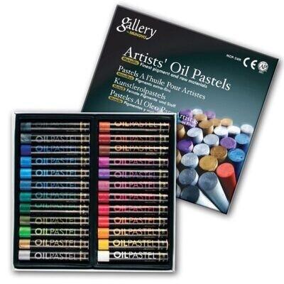 Пастель Mungyo Gallery Oil Pastel масляная круглая 24 цвета профессиональная (металлик)
