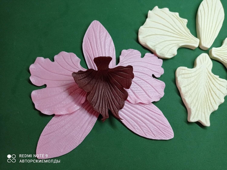Молды КОМПЛЕКТ (4шт) Лепестки Орхидеи размер цветочка получается от 14х14см до 16х16см